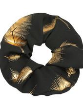 YW Scrunchie Feathers Black
