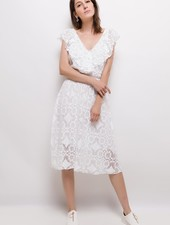 MC Lillyette White Lace Dress