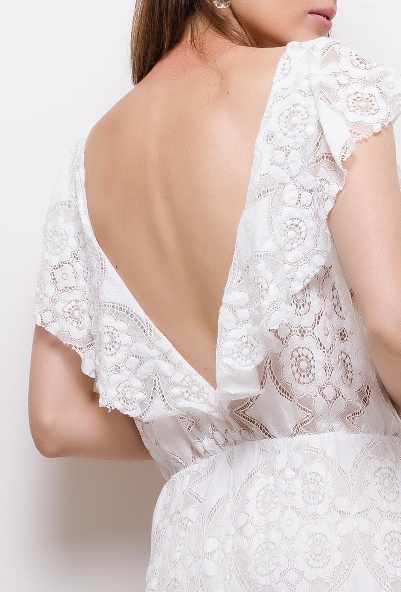 MC Lillyette White Lace Dress