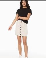 RC Alice Button Skirt Beige