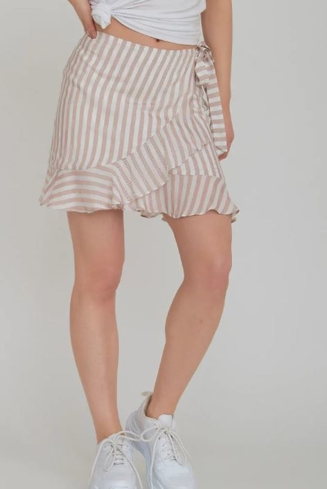 RC Shirley Stripe Wrap Skirt