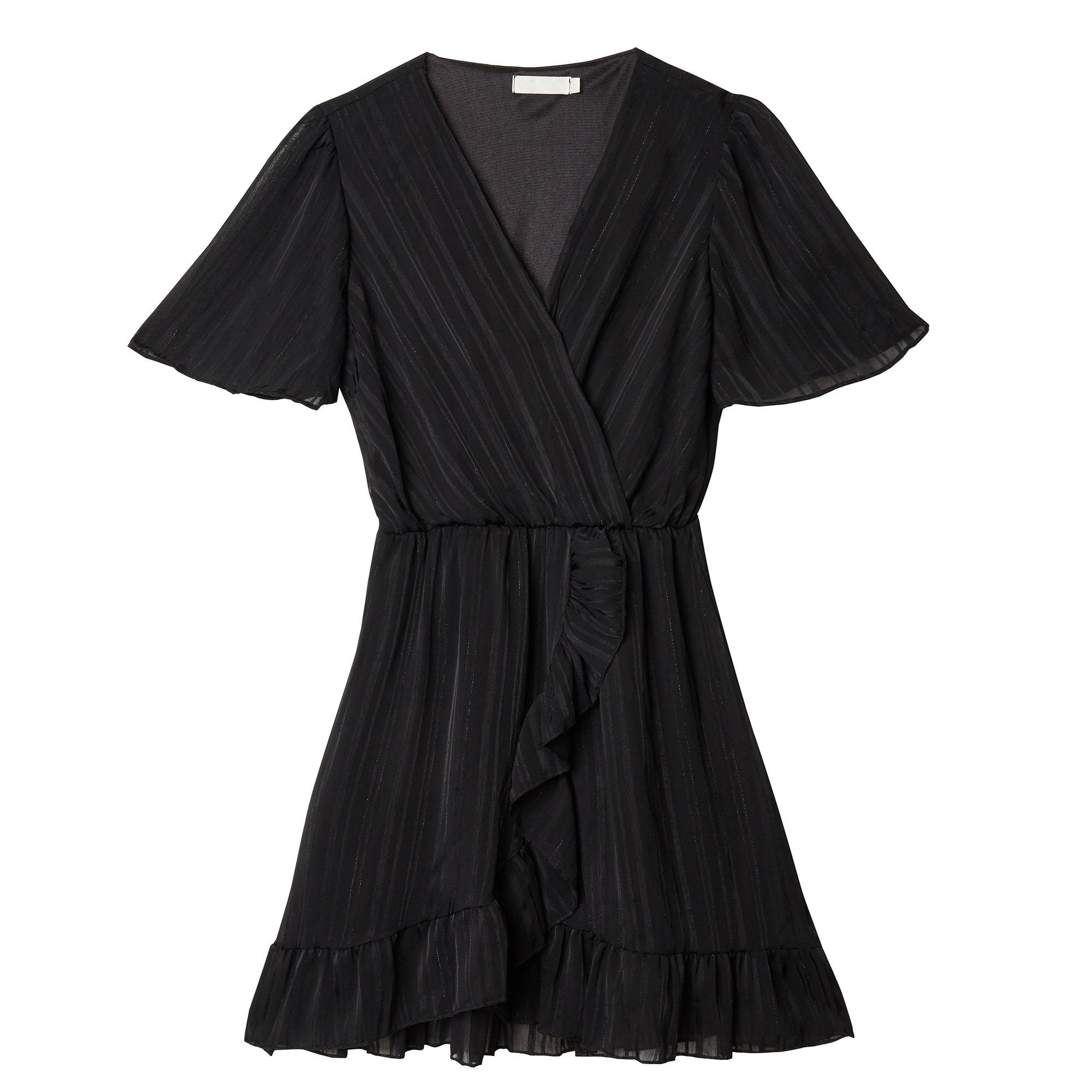 YW Axelle Stripes Dress Black