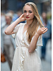 YW Axelle Stripes Dress Ecru