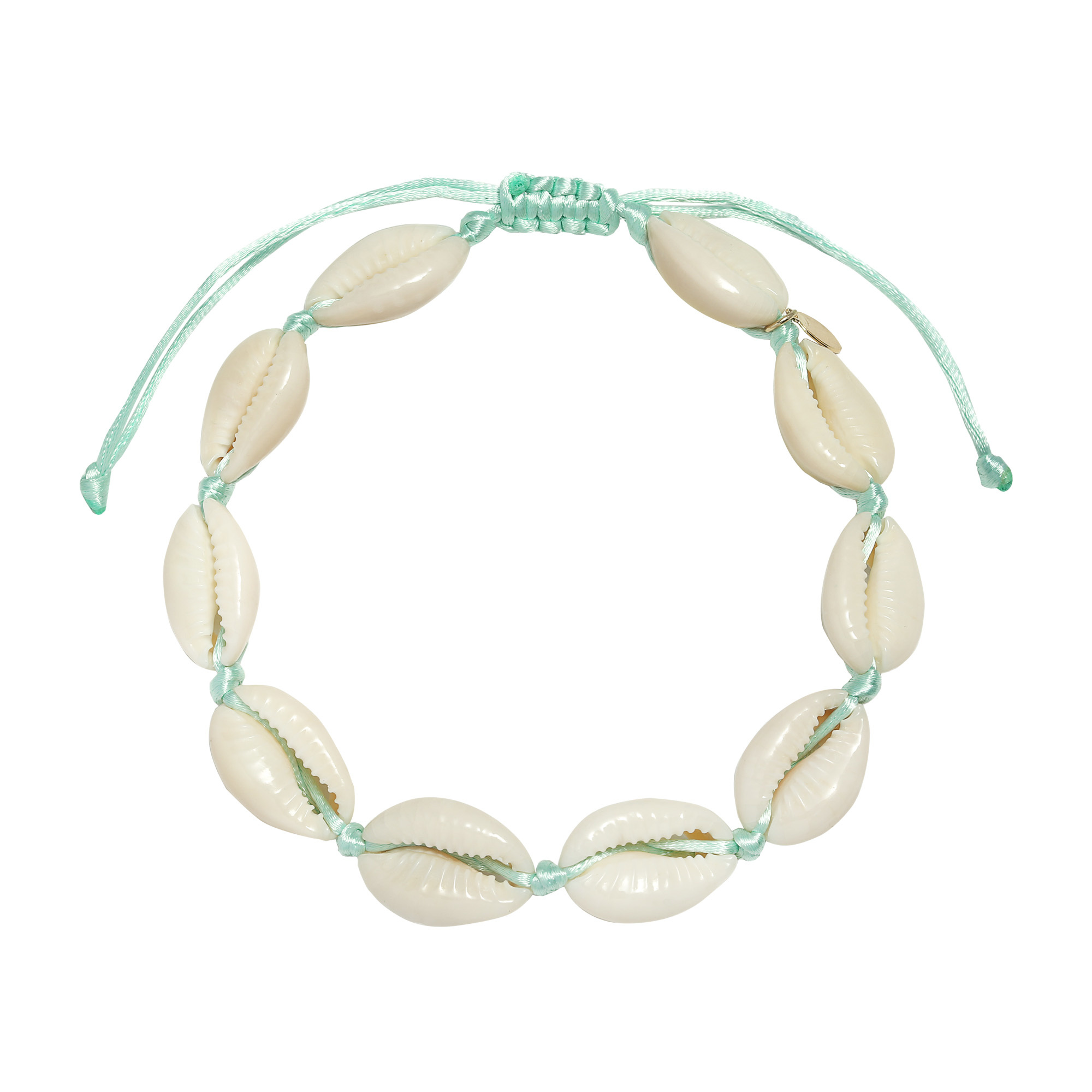 YW Shell Anklet Mint Green