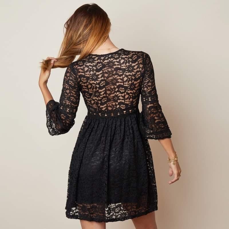 YW Milou Soft Lace Dress Black