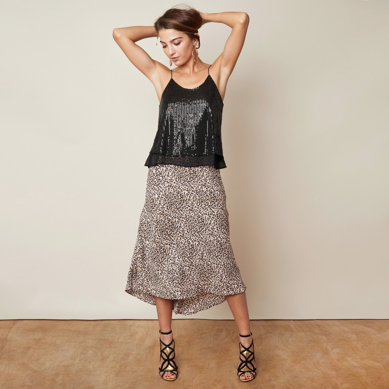 YW Lima Skirt Leopard & Gold