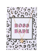 YW Necklace & Card Boss Babe