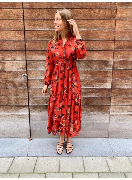 HP Selina Dress Rusty & Black Flowers