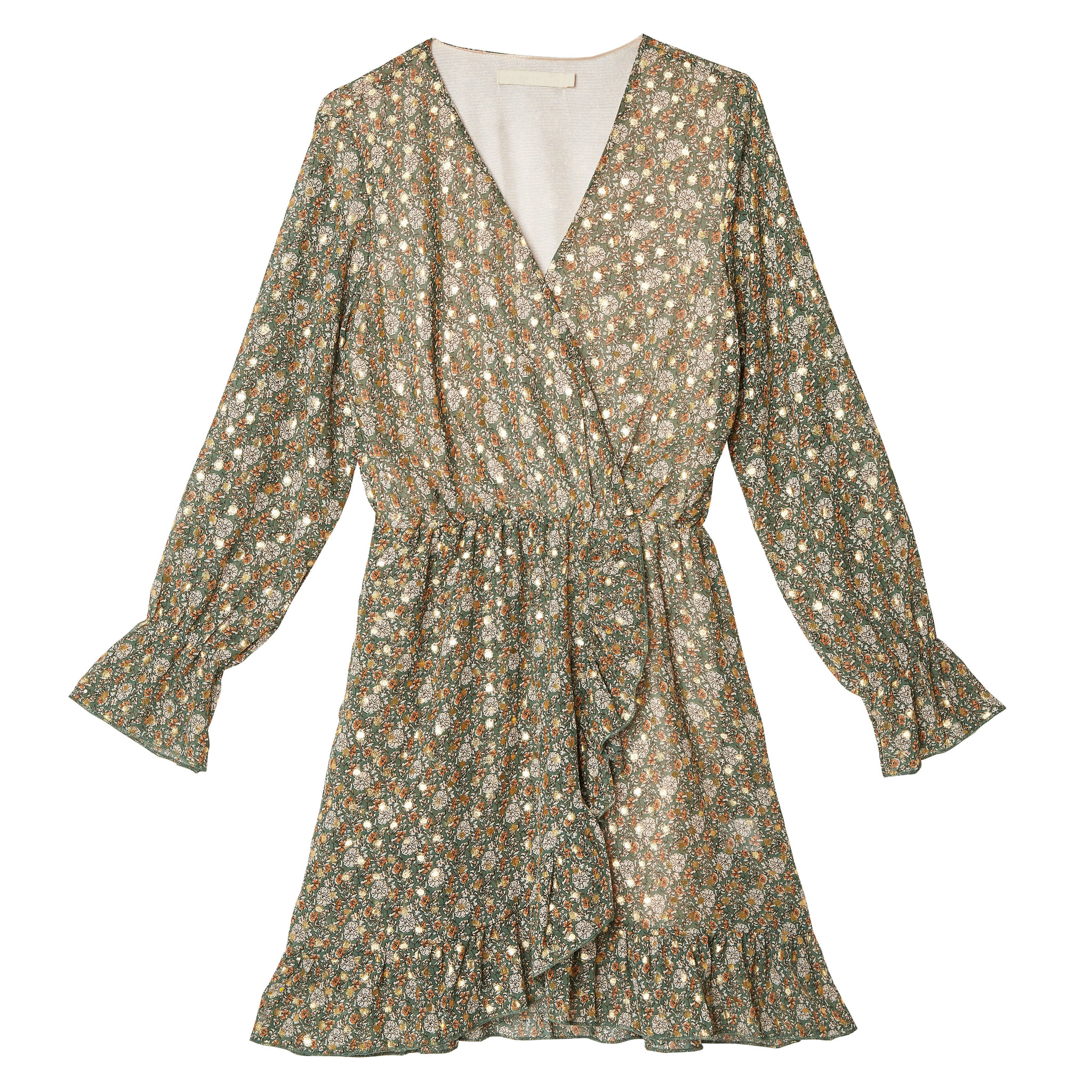 YW Axelle Long Sleeve Dress Autumn Green