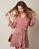 YW Axelle Dress Flower Red