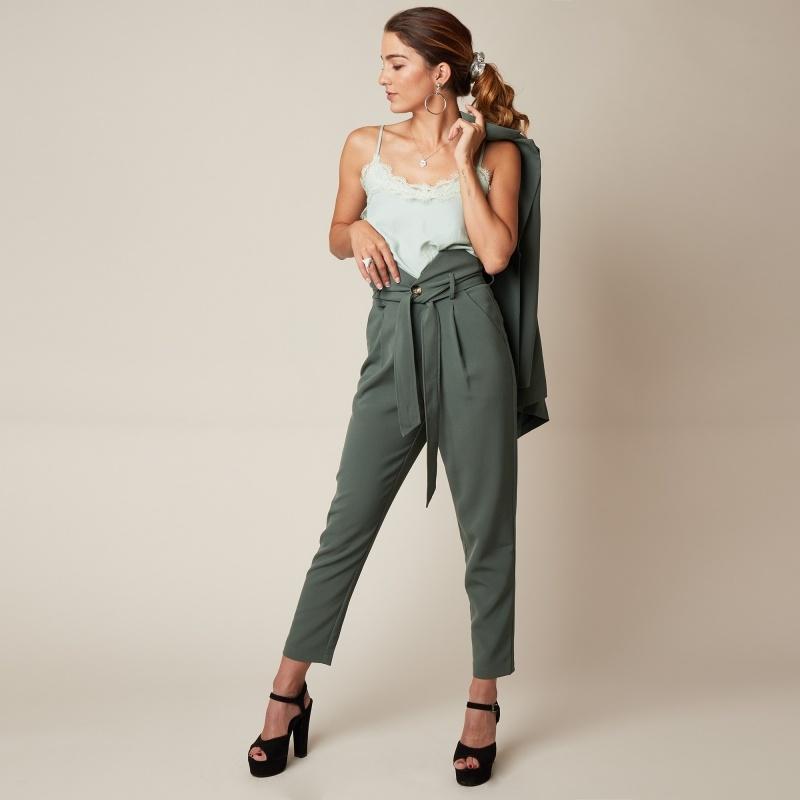 YW Girlboss Trousers Green