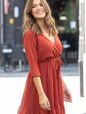GL Cleo Wrap Short Dress Rusty