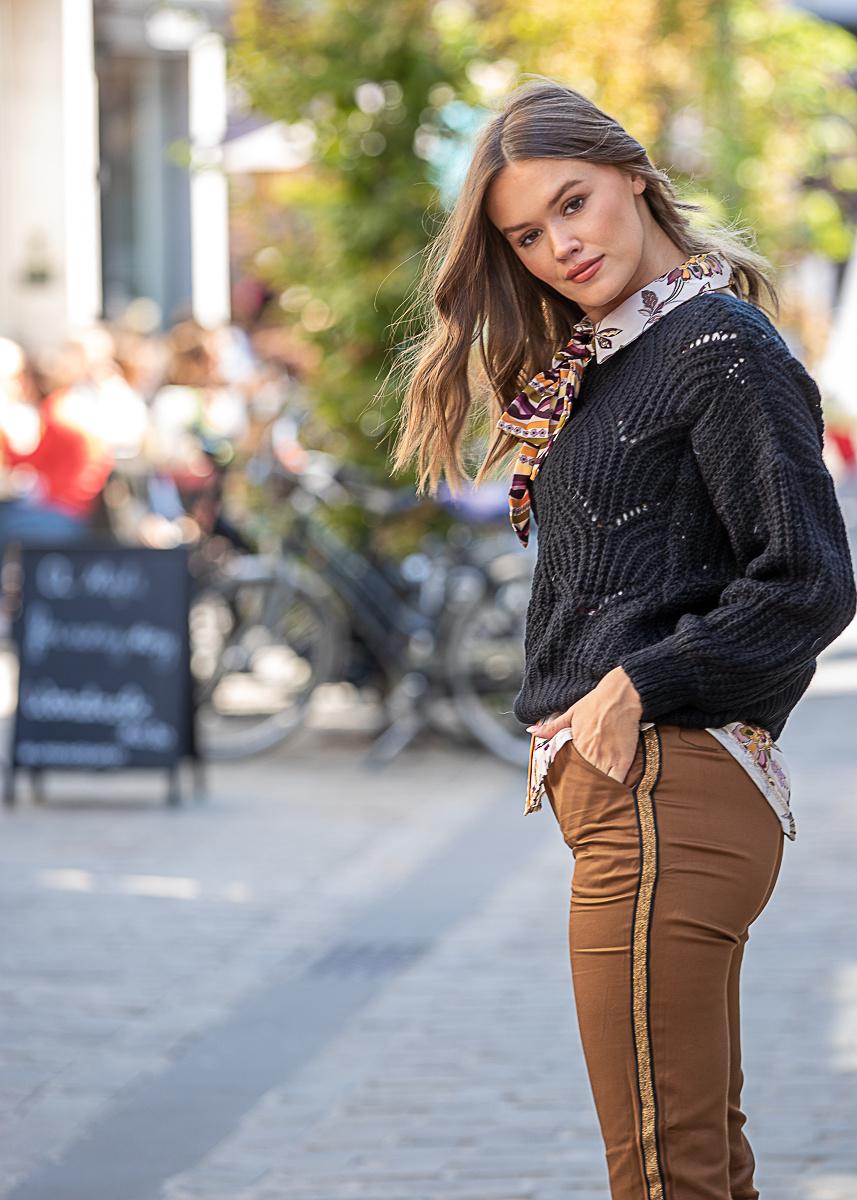 JM Jelle Knit Sweater Black