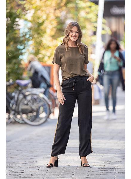 PE Charlotte Pants Black With Side Stripe