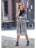 GB Dalia Long Cardigan Faux Fur Black/White