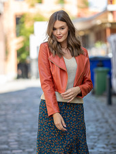 AA Luciana Leatherette Jacket Brick