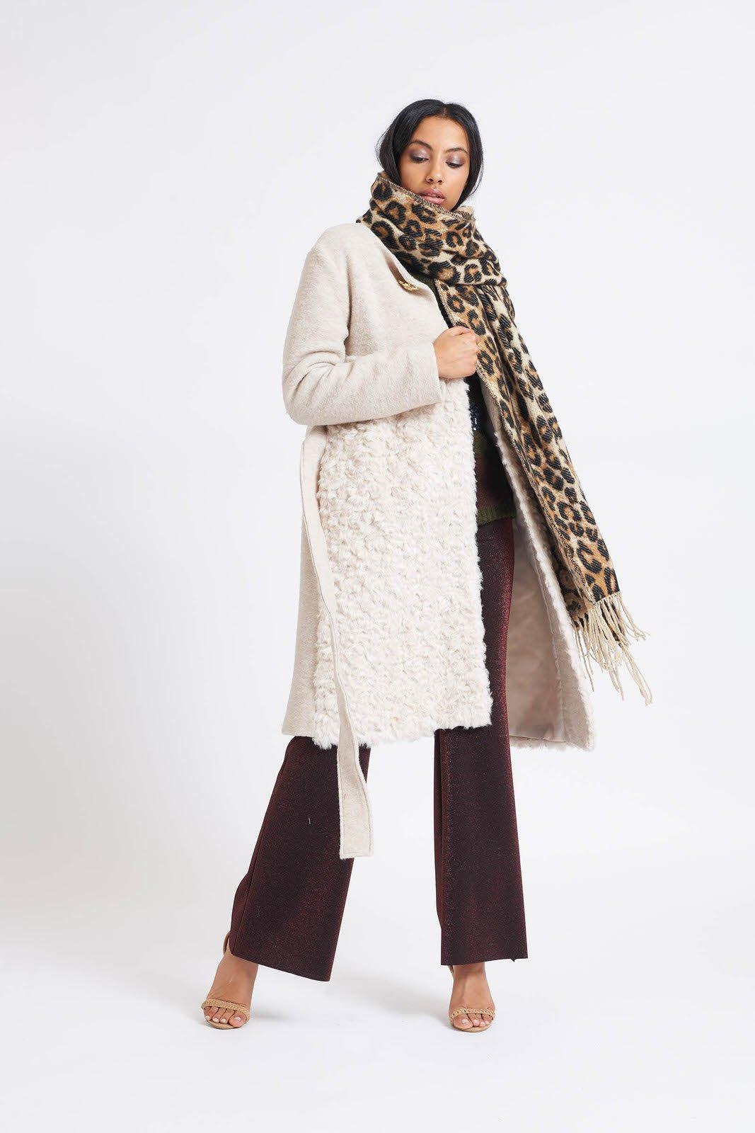 GJ Lisse Coat Beige Faux Fur