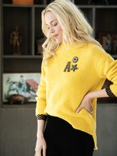 Esqualo Sweater Basic R/Neck Yellow