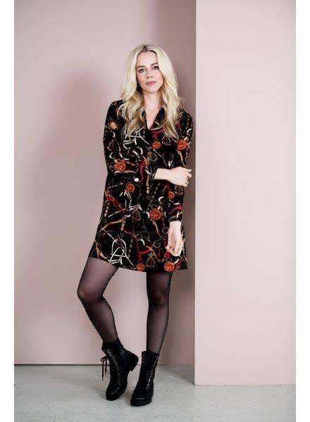 Esqualo Dress Chain Print