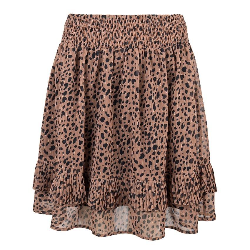 Esqualo Skirt Leopard Lurex