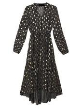 Axelle Long Dress Black/Gold