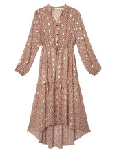 Axelle Long Dress Pink/Gold