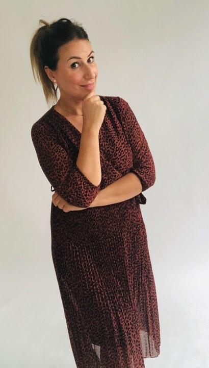 GL Chloe Dress Leopard Rusty