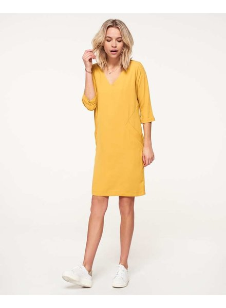 FB Meadow Oker Dress 3/4 Sleeve Pocket Basic