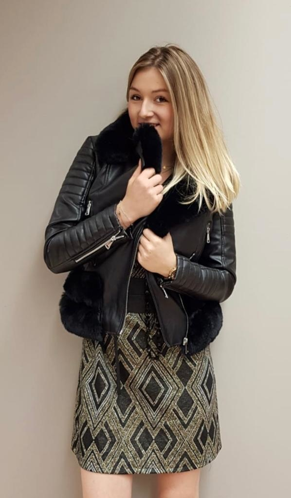 JM Leatherette Jacket Faux Fur