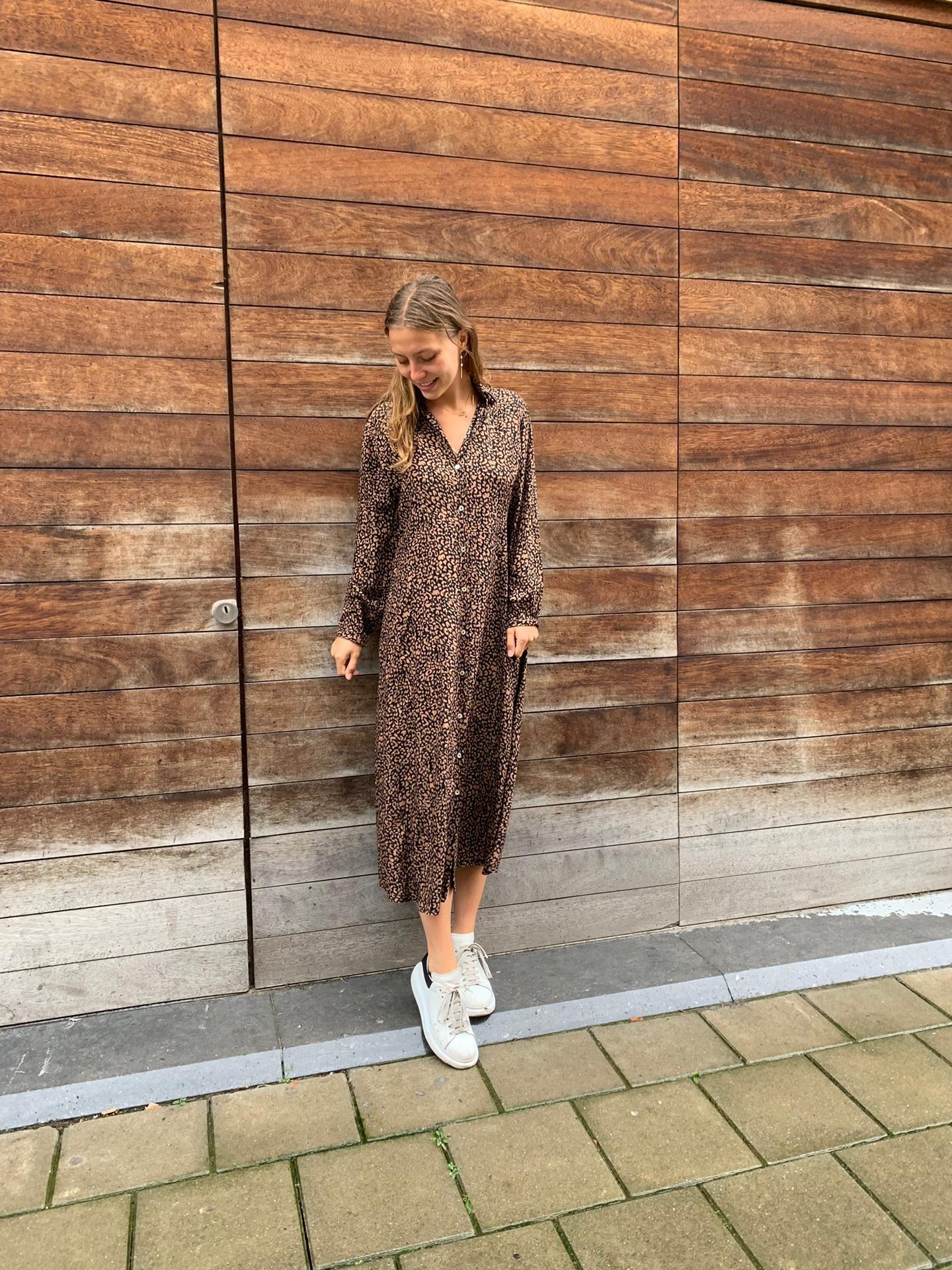 May HP Dress Leopard Lurex