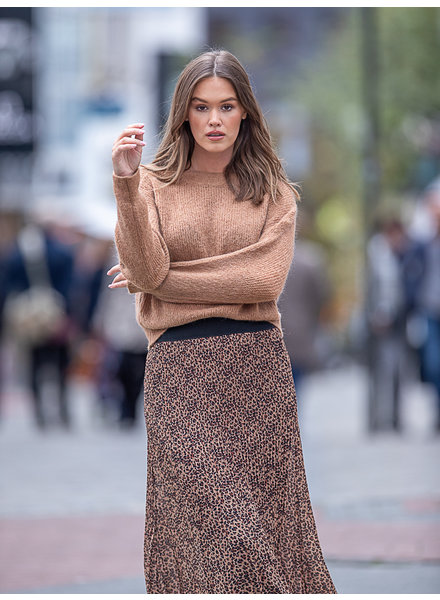 Fashion Claire Pull Round Neck Camel