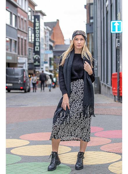 LM Puck Skirt Black Print