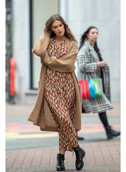 HP Larissa Cardigan Pockets Camel