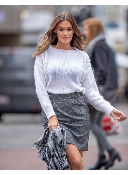 AA Grey Check Skirt Pockets