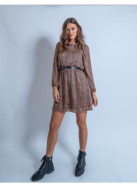 Emma Leopard Dress Rusty Spots
