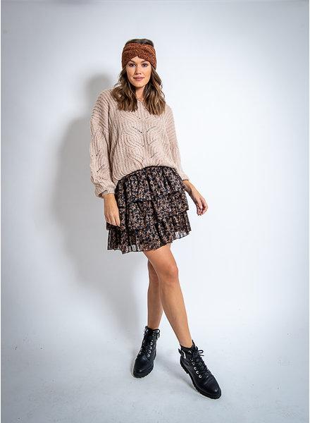 AA Eline Layer Skirt Black/Camel Print