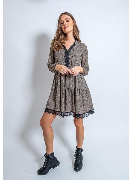 AA Moana Dress Leopard Print Bow & Lace