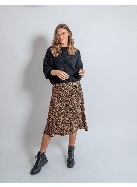 AA Satin Skirt Leopard