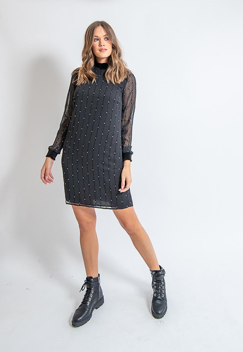 ES Dress Vertical Diamond Black