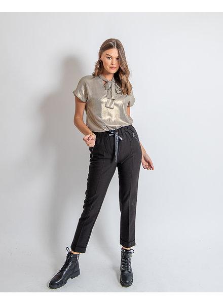 AA Adriana Trousers Black Zipper