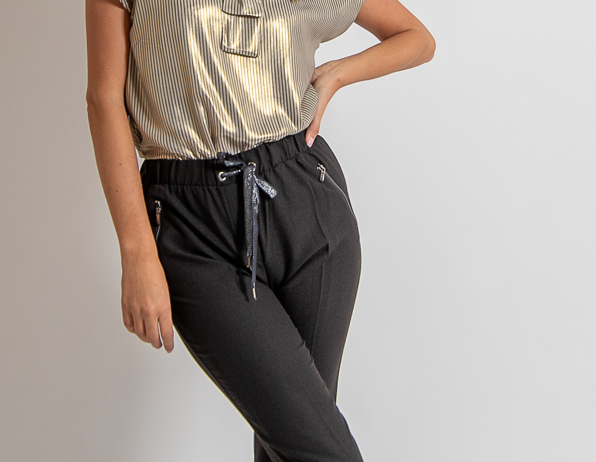 AA Adriana Trousers Black Zipper