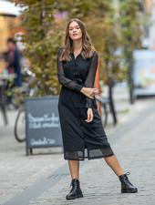 AL Willemetz Dress Black Silver Sparkle