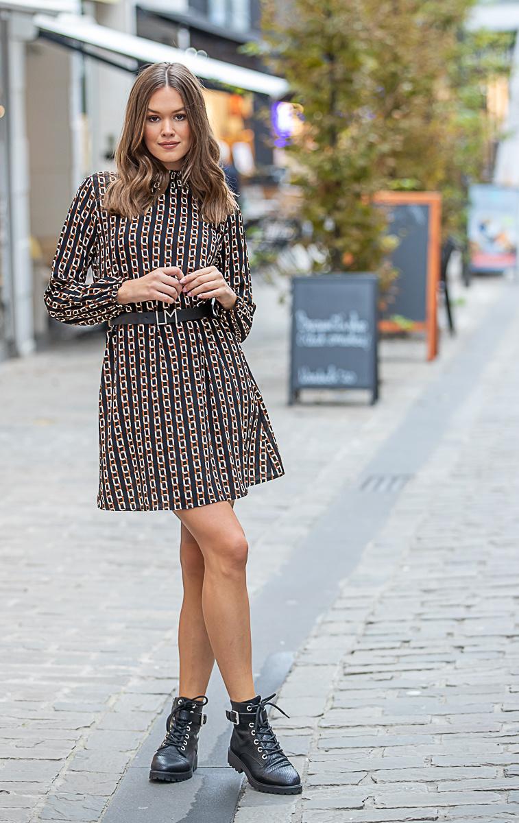 TS Elena Dress Chain Print