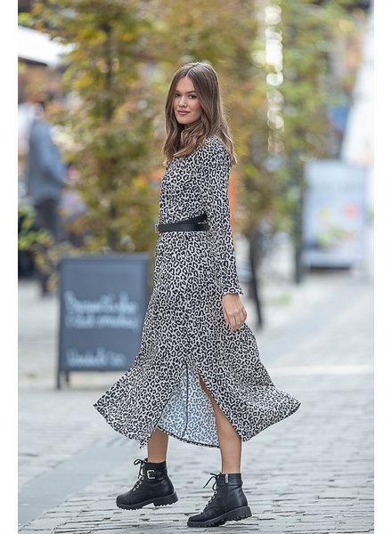 TS Esmee Leopard Dress Ecru/Black