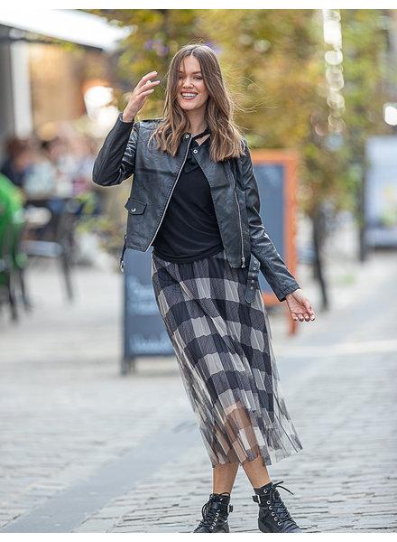 TS Elisa Carreaux Skirt Grey/Black