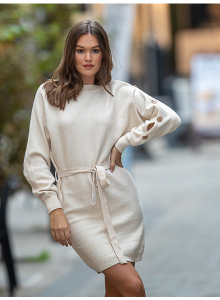 JM Yllia Sweater Dress Beige