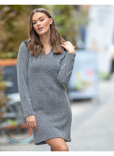 JM Soft Grey Dress Black