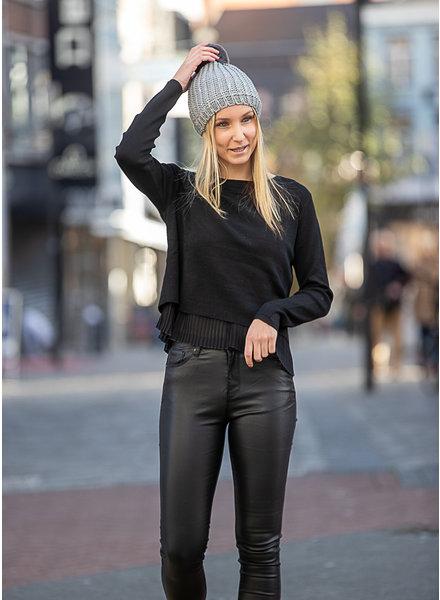 ES Sweater Plissé Cuff Black