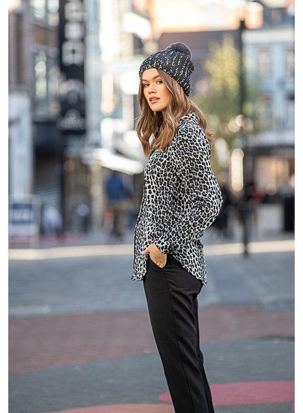 RC Leopard Blouse Grey
