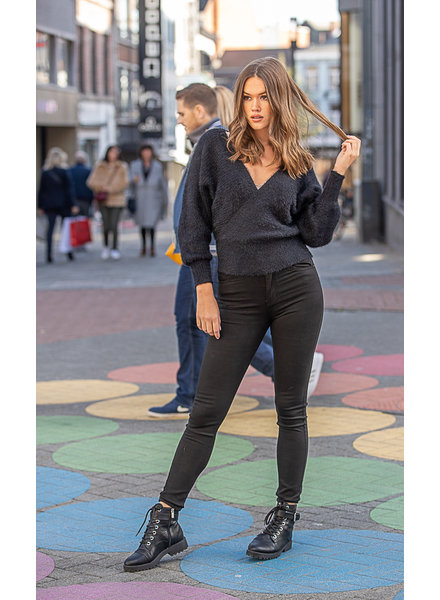 T3 High Waist Black Trousers